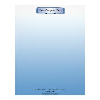 Espejo retrovisor azul en pendiente azul membretes personalizados