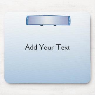 Espejo retrovisor azul en pendiente azul alfombrillas de ratón