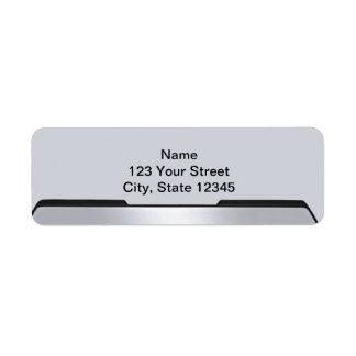 Espejo retrovisor negro y gris en gris etiquetas de remite