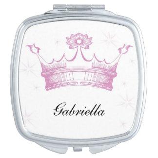 Espejo rosado personalizado del acuerdo de la espejo para el bolso
