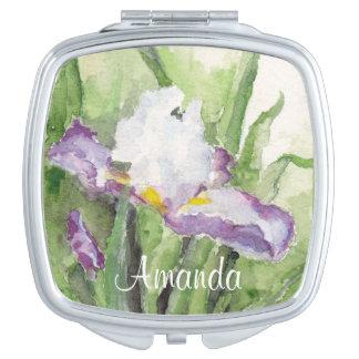 Espejo suave del acuerdo del iris de la acuarela espejo compacto