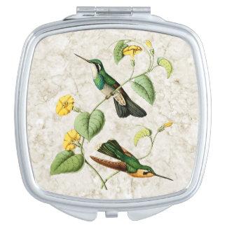 Espejo Throated blanco del acuerdo del colibrí de Espejo Para El Bolso