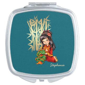 Espejos chinos conocidos de encargo del acuerdo espejos de maquillaje
