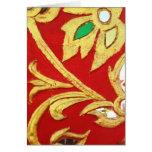 Espejos de Chiang Mai y pintura de oro Tarjeta De Felicitación