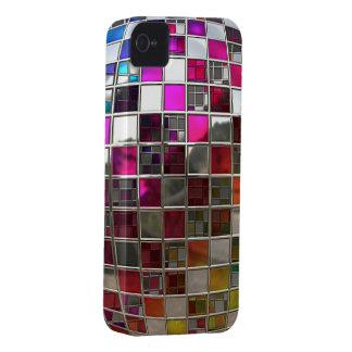 Espejos de la bola de discoteca del arco iris iPhone 4 fundas