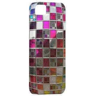 Espejos de la bola de discoteca del arco iris iPhone 5 cárcasas
