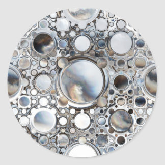 Espejos mágicos pegatinas redondas