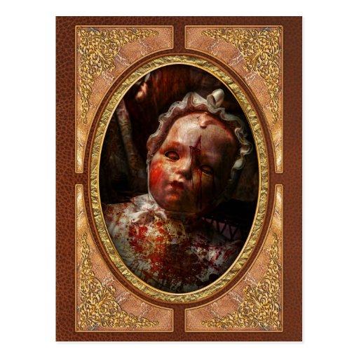 Espeluznante - muñeca - es el mejor dejarlos dormi postales