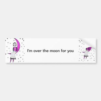 Espeluznante sobre la luna pegatina para auto
