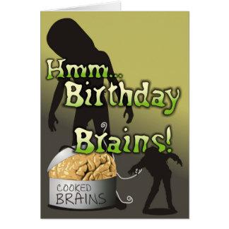 Espeluznante y lindo - tarjeta de los cerebros del