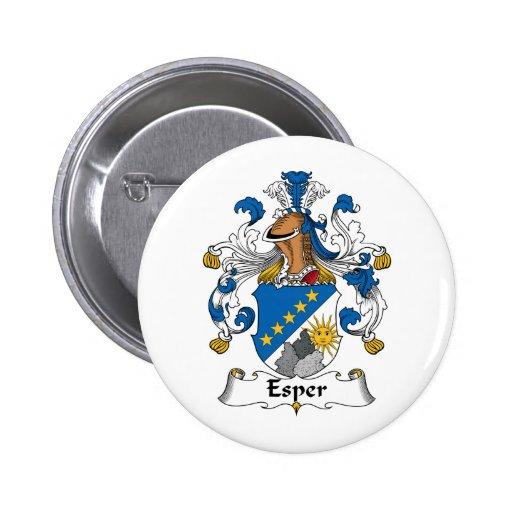 Esper Family Crest Buttons