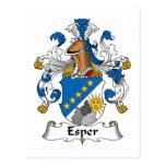 Esper Family Crest Postcards