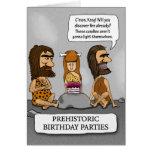 Espera de los hombres de las cavernas y de los tarjeta de felicitación