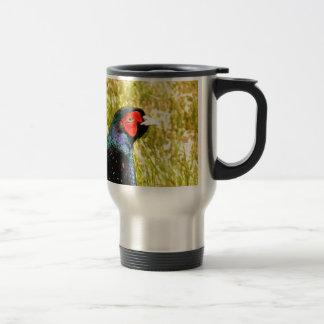 espera del pájaro del colchicus del phasianus del  taza de viaje de acero inoxidable