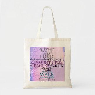 Espera en el señor (40:31 de Isaías) Bolsa Tela Barata