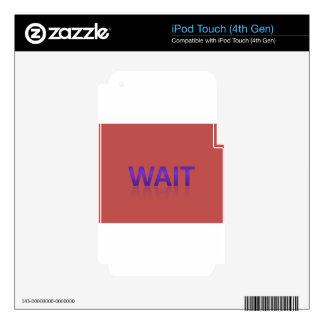 espera iPod touch 4G skin