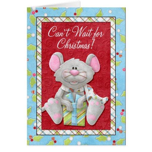 Espera linada para el navidad felicitaciones