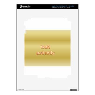 Espera pacientemente iPad 3 skin