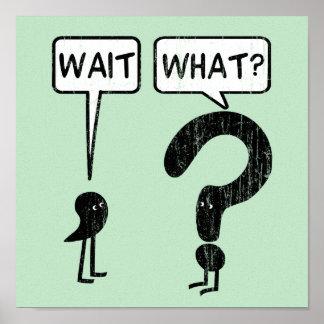 ¿Espera, qué? Humor de la gramática Póster