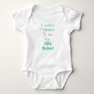 Esperado 9 meses - Sisiter - azul Body Para Bebé