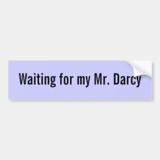 Esperando a mi Sr. Darcy - modificado para requisi Etiqueta De Parachoque
