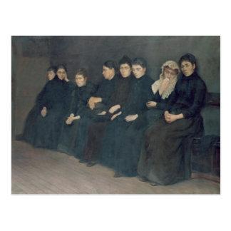 Esperando en la clínica, 1888 postal