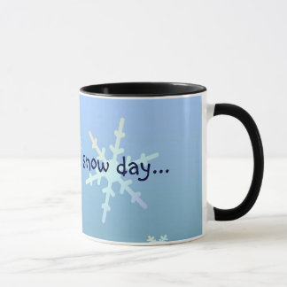 Esperando un día de la nieve… taza