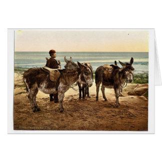 Esperando un trabajo (burros), Inglaterra Photochr Felicitacion