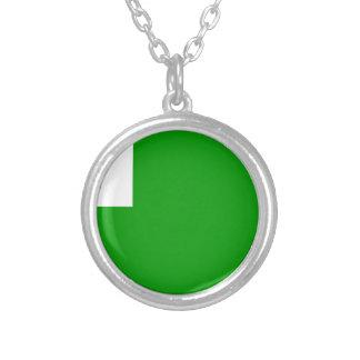 Esperanto-Bandera Collar Plateado