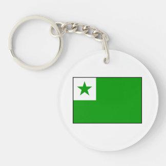 Esperanto - bandera de Esperantist Llavero Redondo Acrílico A Doble Cara