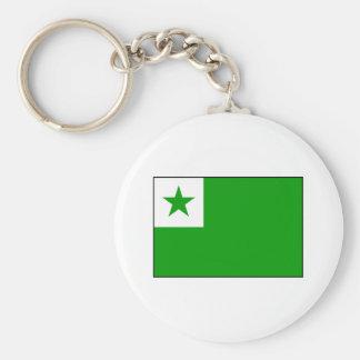 Esperanto - bandera de Esperantist Llavero Redondo Tipo Pin
