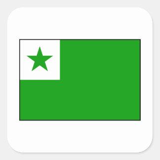 Esperanto - bandera de Esperantist Pegatina Cuadrada