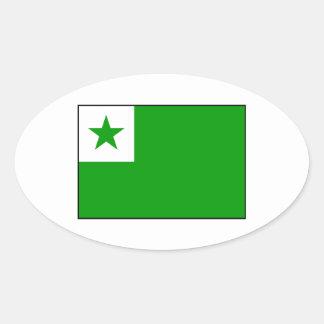 Esperanto - bandera de Esperantist Pegatina Ovalada