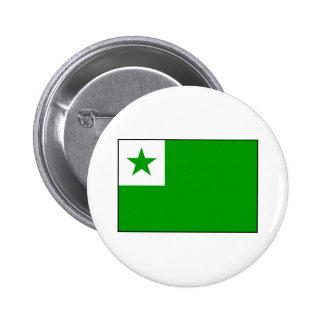 Esperanto - bandera de Esperantist Pin Redondo De 2 Pulgadas