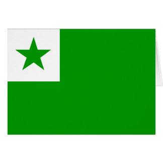 Esperanto - bandera de Esperantist Tarjeta De Felicitación