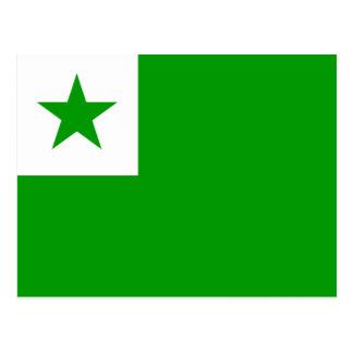 Esperanto - bandera de Esperantist Tarjeta Postal