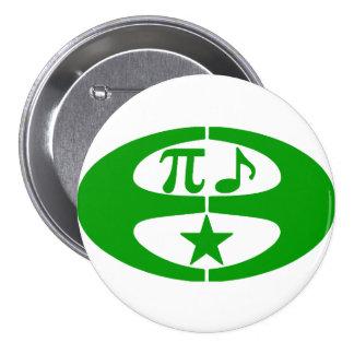 Esperanto de la música de la matemáticas - botón pin redondo de 3 pulgadas