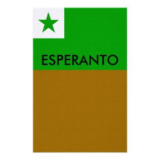 esperanto flag, ESPERANTO Stationery
