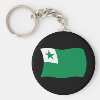 Esperanto Flag Keychain