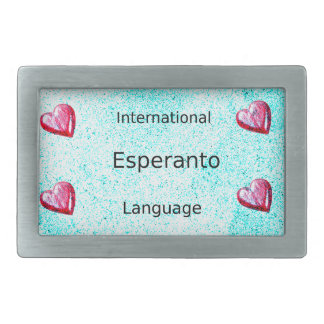 Esperanto International Language Design Rectangular Belt Buckle