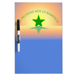 Esperanto: Just the Beginning Dry Erase Board