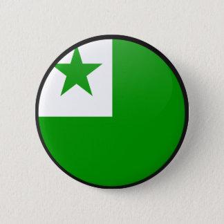 Esperanto quality Flag Circle Pinback Button