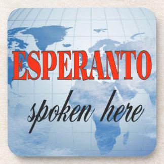 Esperanto spoken here cloudy earth coasters
