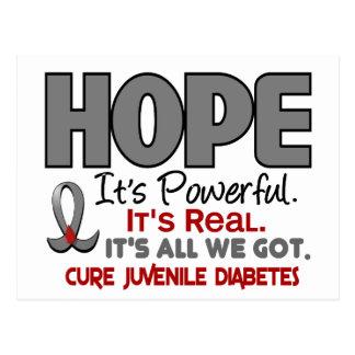 ESPERANZA 1 de la diabetes juvenil Tarjeta Postal