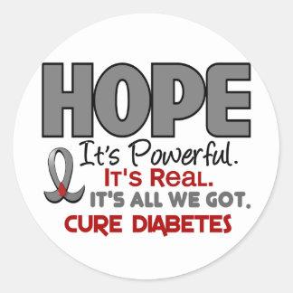 ESPERANZA 1 de la diabetes Pegatina Redonda
