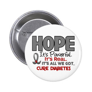 ESPERANZA 1 de la diabetes Pin Redondo De 2 Pulgadas