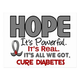 ESPERANZA 1 de la diabetes Postales