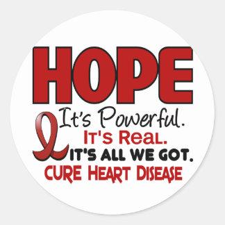 ESPERANZA 1 de la enfermedad cardíaca Etiqueta Redonda