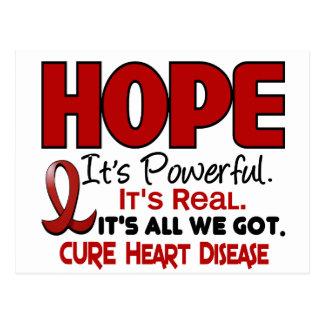 ESPERANZA 1 de la enfermedad cardíaca Tarjetas Postales