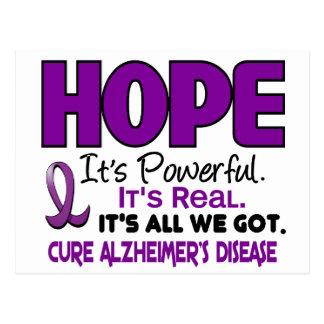 ESPERANZA 1 de la enfermedad de Alzheimer Postales
